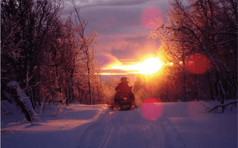 Snowmobile Sunset