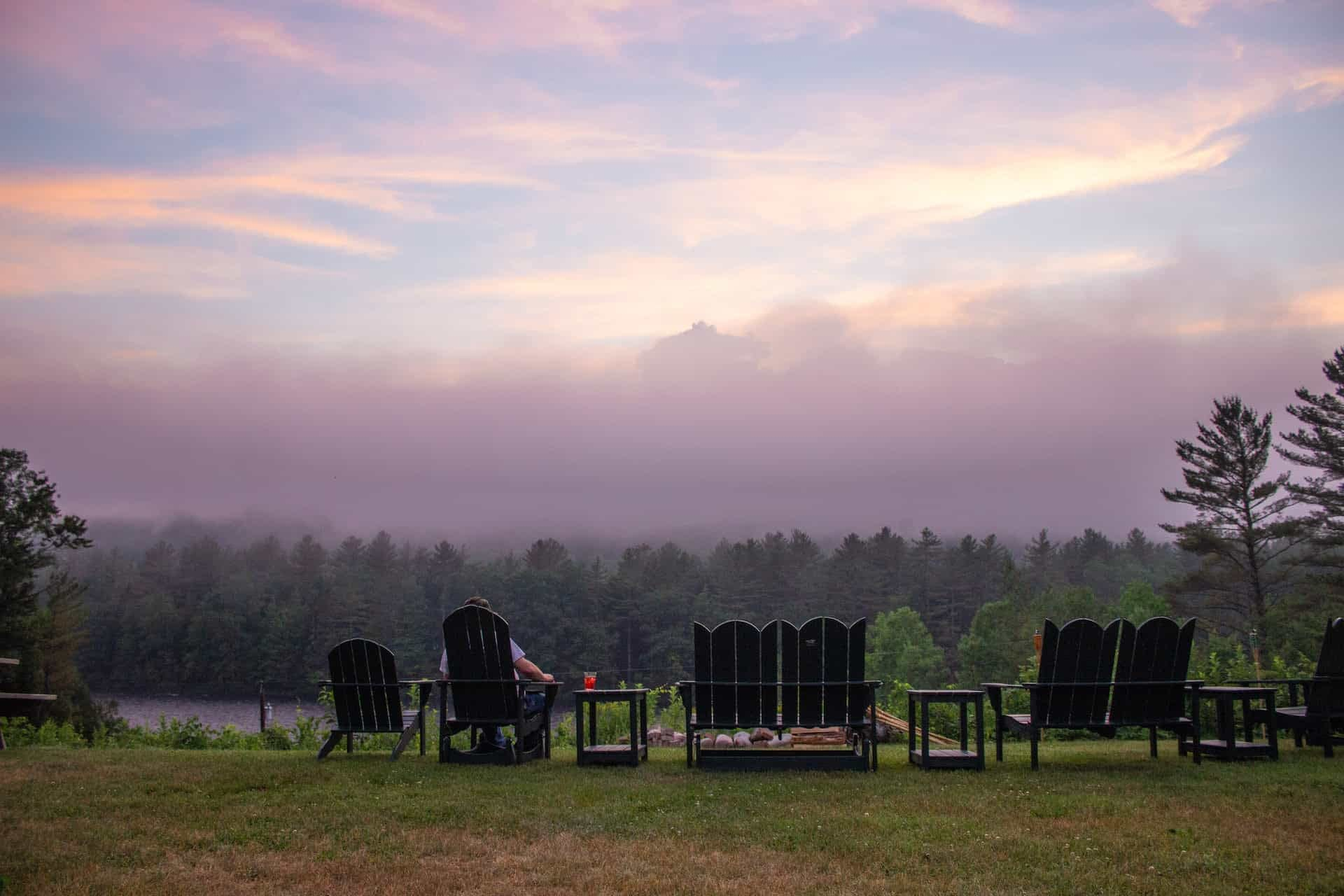 Maine Outdoor Weddings Sunset